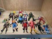 Lot Of 13 Vintages Action Figures Pirates Robin Hood Captain Planet And More
