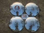 1939 1940 Plymouth Standard Deluxe Poverty Dog Dish Hubcaps Set Of 4