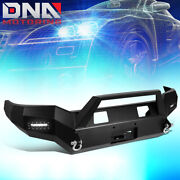For 07-13 Toyota Tundra Rock Crawler Front Bumper W/winch Plate+2x Led Fog Light