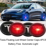 Floating Led Wheel Rim Center Cap Fit For Tesla Model 3 S X Y Emblem Logo Badge