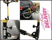 Hitch Mounted 2-bike Rack-100 Lb Capacity All-steel Fits 1-1/4 Or 2 Hitch