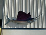 121 Sailfish Two Sided Fish Mount Replica - 10 Business Day Production Time