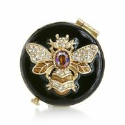 Jay Strongwater Buzz Bee Compact Mirror 14k Gold Scb8423-280
