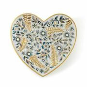 Jay Strongwater Aria Floral Heart Trinket Tray , 18k Sdh6610-284 New