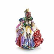 Jay Strongwater Christmas Sdh20006-250 Nine Ladies Dancing Glass Ornament