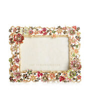 Jay Strongwater Frame Ophelia Cluster Floral 5 X 7 Frame Spf5859-250 14k Gold
