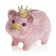 Jay Strongwater Gatsby - Pave Piggy Bank 14k Gold,  Sdh6653-206 New