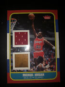 Michael Jordan 2007-08 Fleer Game Used Jersey And Court. Only 230 Made Very Rare