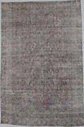 Antique Washed Distressed 6x10 Kirman Hand Knotted Wool Oriental Area Rug Carpet