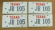 Rare Error Texas Vanity License Plate Plates 2 Pairs  Jr 105  4 Of A Kind