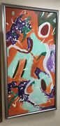 Brent A Godfrey Original Finale Acrylic On Canvas 1996 Painting