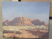 Lee T. Dalton Mountains In Utah Painting Canvas Signed