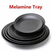 Dinner Plate Dishes Food Melamine Round Black Plastic Tray Party Dinnerware News