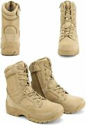 Menand039s Military Tactical Work Boots Hiking Motorcycle Ankle-high Combat Bootie Us
