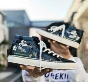 Womens Mens Mickey Mouse Printed High Top Lace Up Flat Canvas Shoes New Fashion