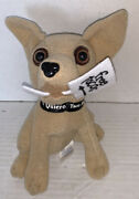 Taco Bell - Free Taco Chihuahua With Sign -discontinued Plush Dog Vintage 1990's