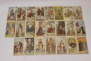 Lot Of 23 Series Vintage Religious Holy Cards Ephemera Printed In Italy - Rare