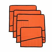Oxford Tool Roll Pouch Wrench Holder Organizer Bag With 12 Pockets Set Of 4 Grey