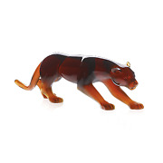 Daum Amber Panther Figurine Crystal 03139-3 France New