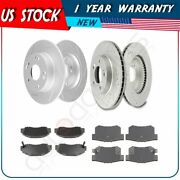 For 1997-2001 Honda Prelude 2.2l Front + Rear Brake Pads And Rotors Discs Kit