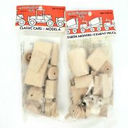 Lot Of 2vintage 1983 Woodkrafter Kits703 Model A505 Cement Truck New Sealed