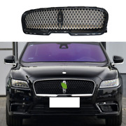 Gloss Black Front Bumper Center Hood Grill Mesh For Lincoln Continental 2017-21