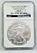 2013 W American 1 Oz 999 Silver Eagle Ngc Ms 70 First Releases Se24