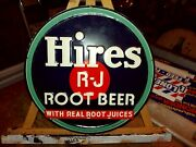 Hires Root Beer 12 Inch Round Tin Sign