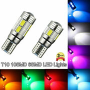 T10 194 W5w 5630 Led Smd Projector Canbus Error Free Car Lights White Blue Red