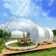 110v 3m Outdoor Home Inflatable Bubble Tent Camping Cabin Single Tunnel + Blower