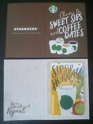 Starbucks 2017 Singapore Ez Link Card W Sleeve - Sip Sip Hurray Limited Edition