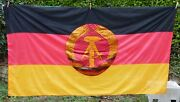 East German/ddr Flag Very Large 4x6.5ft 120x200cm Germany 1987 V Good Condition