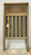 Vintage National Washboard 801 The Brass King Wash Board - 24 Tall Very Nice