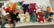 Rare Ty Beanie Baby Collection Princess, Claude, Valentino, And More