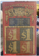 Rare Vintage New In Package Diamond Dust Baseball Punch Game 5 Cents 1930-40s