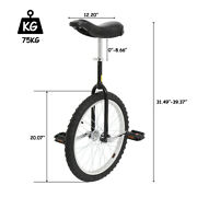 20 Wheel Unicycle Leakproof Butyl Tire Adjustable Height Cycling Workout Sport