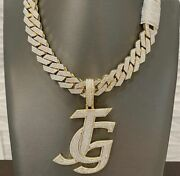 Menand039s Customized Layered Initial Name Pendant With 16mm X 20 Rope Chain Set