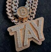 Menand039s Customized Layered Name Classic Pendant And 12mm X 20 Cuban Link Chain Set