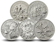 New Gift Coin Set 5 Pcs Russian 25 Rubles Coins Soviet Animation 2017-2019 Years