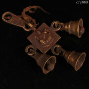 6.8tibet Jokhang Temple Old Antique Pure Copper Handmade Wind Chimes