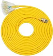 Dewenwils 25ft Tri-tap Extension Cord Splitter Heavy Duty With Led Lighted Plug