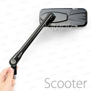 Mirrors Modern Glossy Black M8 M10 Most Motorcycle Naked Bike Scooter Moped Andepsilon