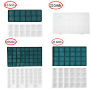 Plastic Painting Box With 12/21/ 24/36 Grids Square Art Color Mixing Box W/lids