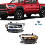 Left And Right Front Led Projector Headlights Assy For 2015-2020 Toyota Tacoma