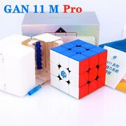 Newest Gan11 M Pro 3x3x3 Magnetic Speed Cube Professional Magic Cube Frosted Whi