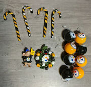 Nfl Football Pittsburgh Steelers Christmas Ornaments Holiday Decorations Lot