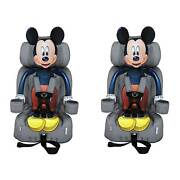 Kids Embrace Disney Mickey Mouse Combo Harness Booster Toddler Car Seat 2 Pack
