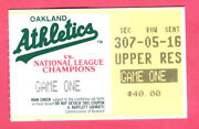 A Steal 1989 World Series Game 1 Ticket Stub-a's/giants-mcgwire,canseco,clark
