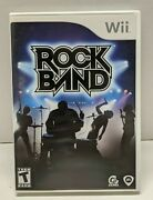 Nintendo Wii - Rockband - Complete W/ Case And Manual Tested Read Desc