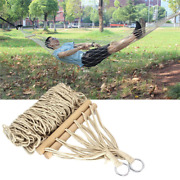 Strong Hammock Portable Mesh Net Hanging Bed Solid Wood Swing  Free Shipping